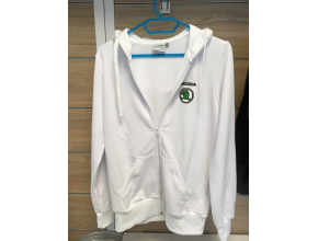 Sweat capuche Skoda Blanc