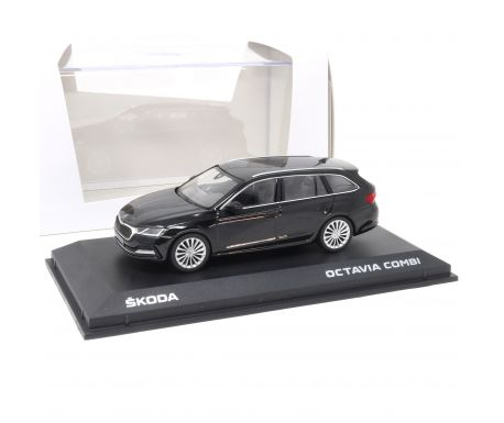 Miniature Skoda Octavia Combi 1:43 Noir Magic