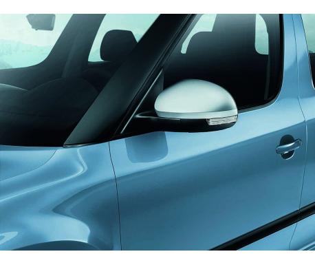Coques de rétroviseurs look aluminium Yeti 2010-2018