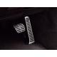 Kit pédalier sport en acier inoxydable brossé pour boîte automatique Octavia 2009-2013