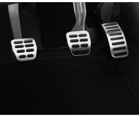 Kit pédalier sport en acier inoxydable brossé pour boîte manuelle Fabia 2000-2015