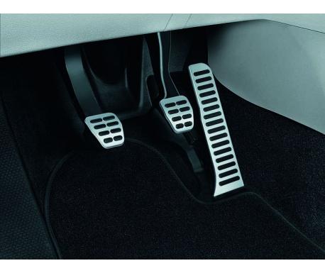 Kit pédalier sport en acier inoxydable brossé pour boîte manuelle Yeti 2010-2018