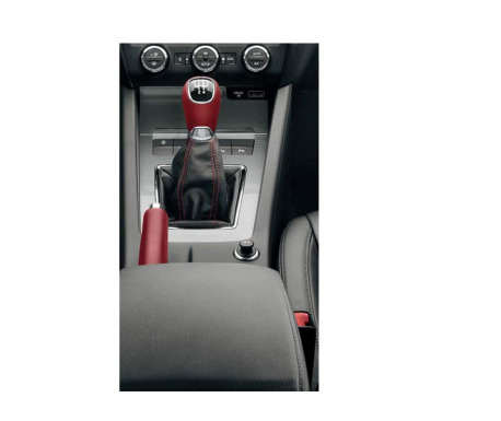 Pommeau en cuir 6V - rouge Octavia 2013-2018