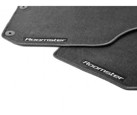 Jeu de 4 tapis textile, noir Roomster 2011-2015